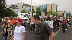 Foto von Therapeuten-Demo in Berlin, Juni 2017