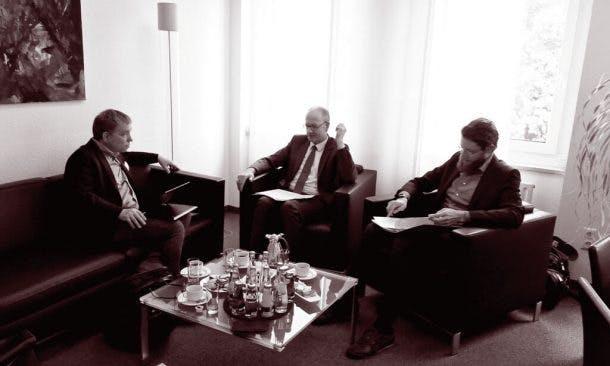 Foto von Interview Ralf Buchner mit Martin Hendges und Christian Nobmann, KZBV
